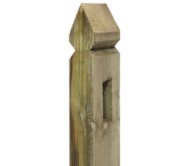 with 5ft x 70mm x 70mm Elite Grooved Palisade Post
