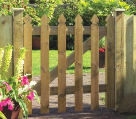 with Elite Palisade 3ft x 3ft Gate