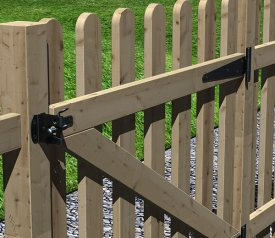 with Round Top Palisade 3ft x 3ft Gate