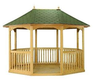 3.19m Pavilion Size with Green Felt Roof Tiles