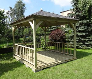 as Canopy, Floor and Balustrades