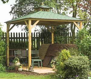 as Canopy Only with Green Felt Roof Tiles
