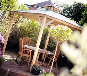 as Canopy Only with Black Felt Roof Tiles