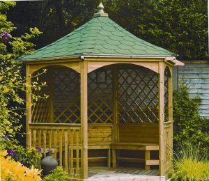 2.1m (Compact) Size with Green Tiled Roof