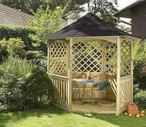 2.1m (Compact) Size with Black Tiled Roof