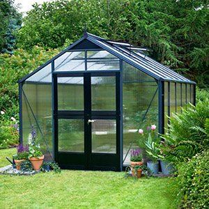 finished in Anthracite and Black (Black Base) with 6mm Poly Glazing