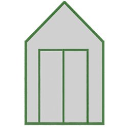 With Double Doors Upgrade in Matching Colour