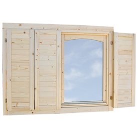 with Matching Double Window Shutter