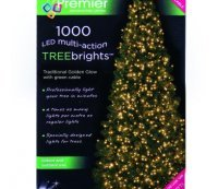 with Premier 1000 Vintage Gold LED TREEbrights for 7ft Christmas Tree