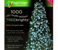 with Premier 1000 White LED TREEbrights for 7ft Christmas Tree