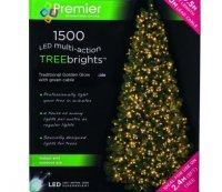 with Premier 1500 Vintage Gold LED TREEbrights™ for 8ft Christmas Tree