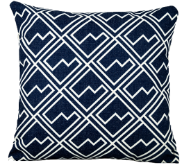 with Blue Square Scatter Cushion