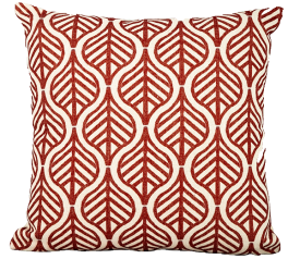 with Red Leaves Scatter Cushion