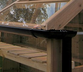 with Swallow Hunter Rainwater System in BLACK