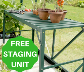 with FREE 1-Tier Staging Unit