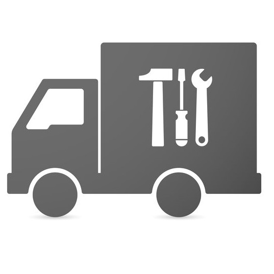 Delivery lorry icon.