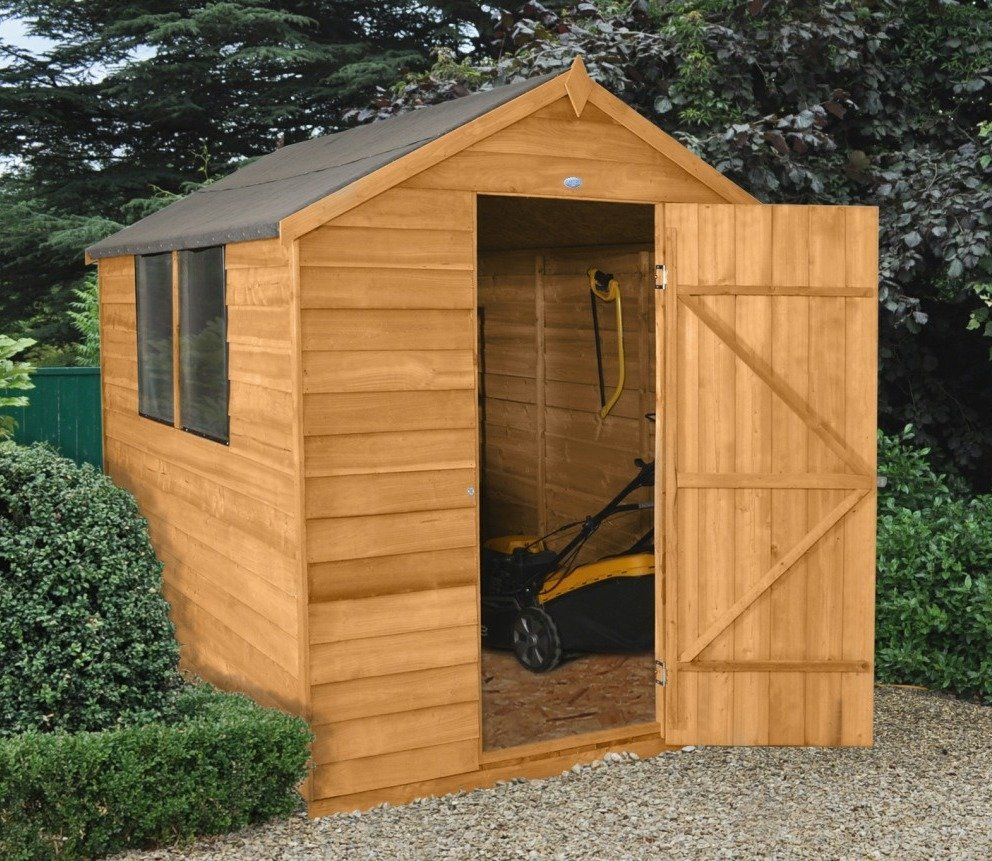 An Apex roof shed.