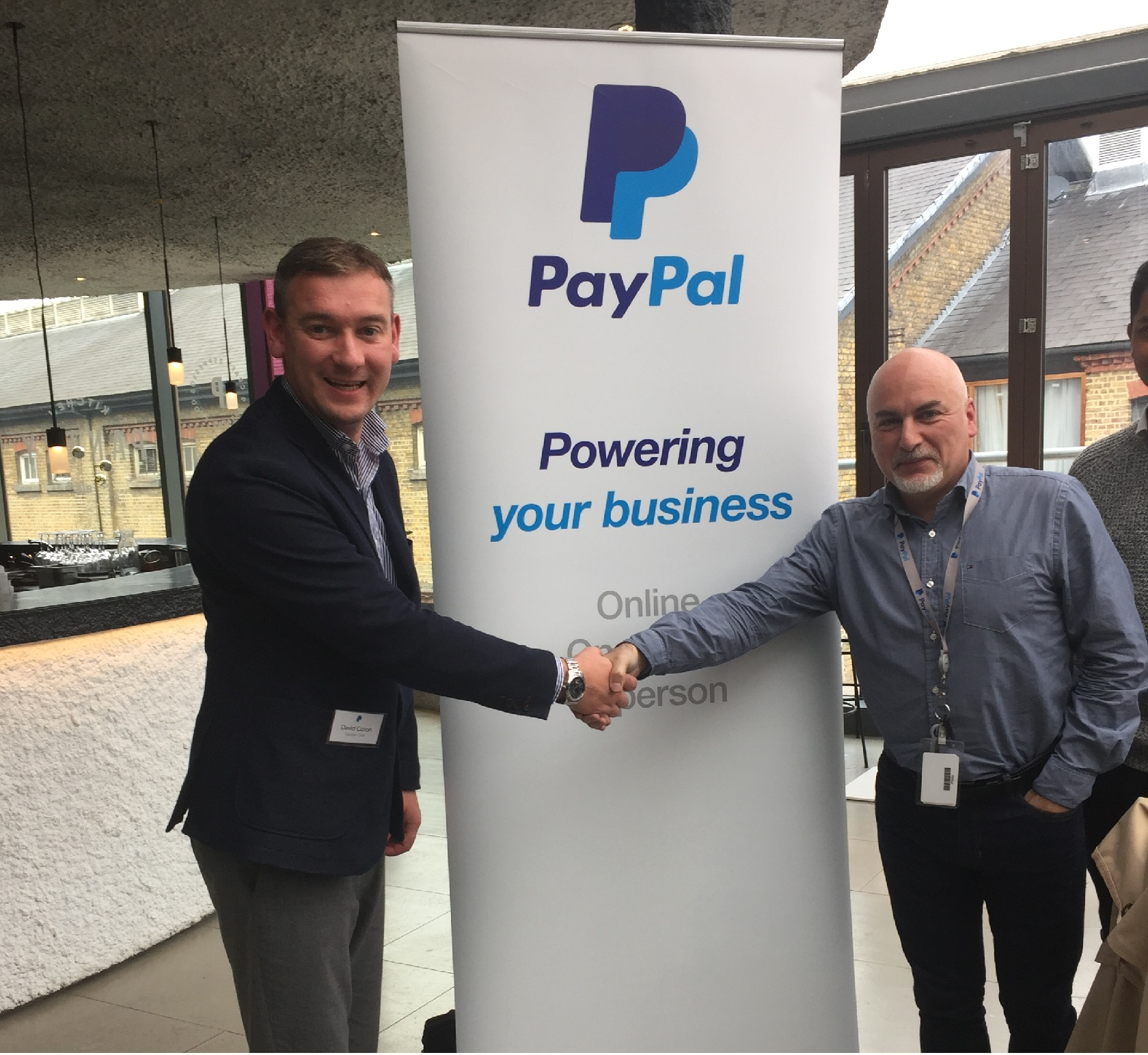 DC with a member of the PayPal UK team.