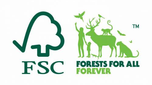 FSC responsible forestry logo.