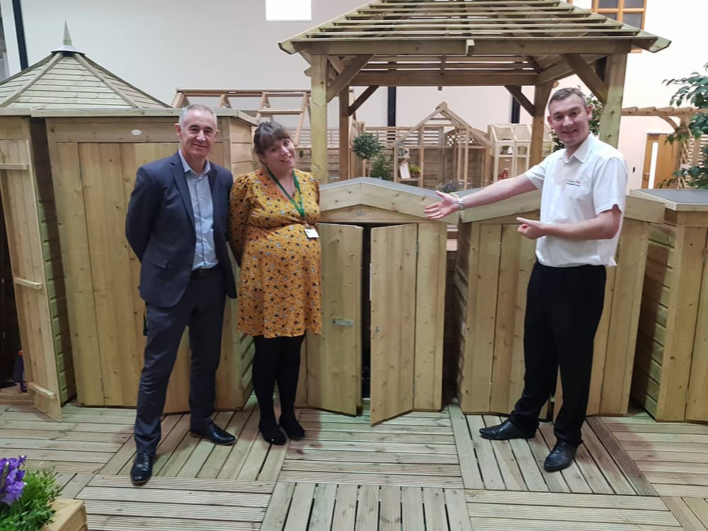 David Coton with some Forest Reps viewing some of their impressive sheds