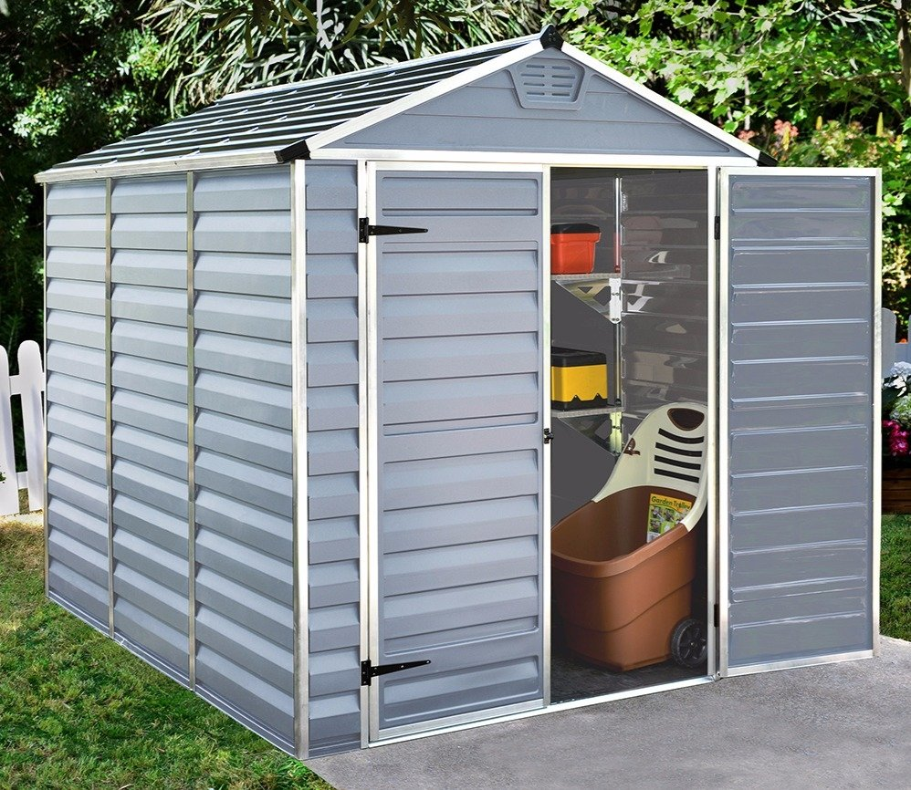 Palram plastic shed.