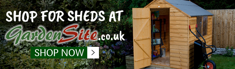 Shop for sheds at Gardensite.co.uk, Click here