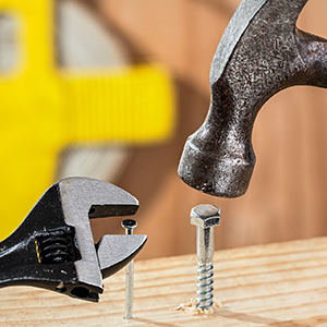 Hammer and nail whilst building