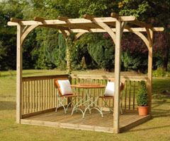 Forest Decking Kit With Pergola