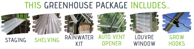What's included in this elite greenhouse package.