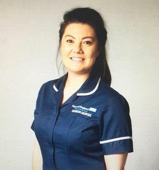 NHS nurse.
