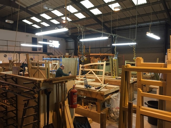 Images from inside the workshop.