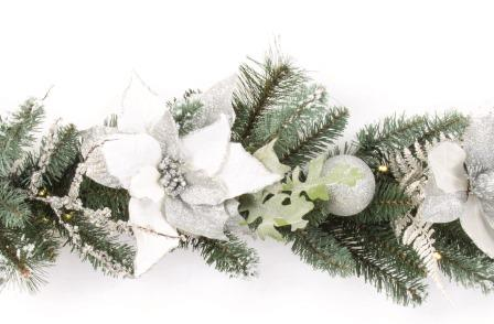 White and Silver make a great colour combination in this new Garland from Premier Decorations