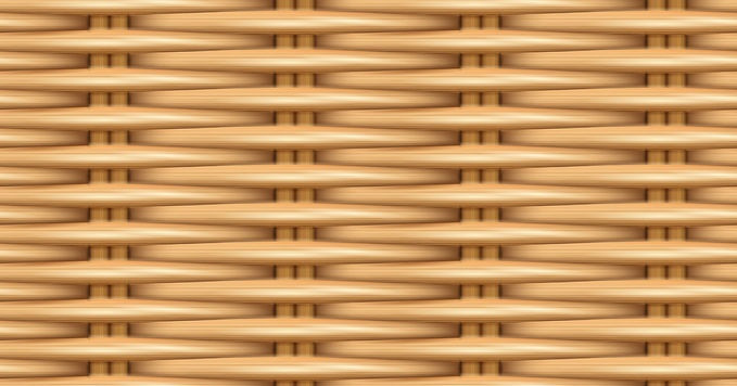 Close up view of synthetic rattan weave.