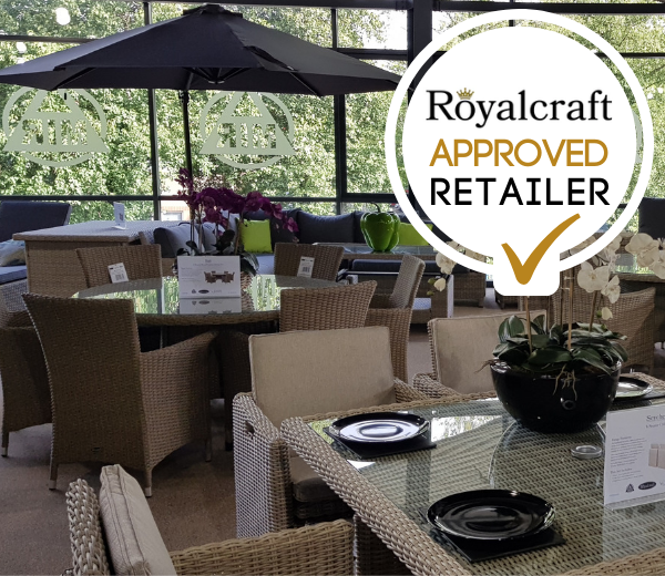 Approved Royalcraft retailer logo.