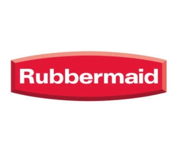 Rubbermaid storage brand logo.