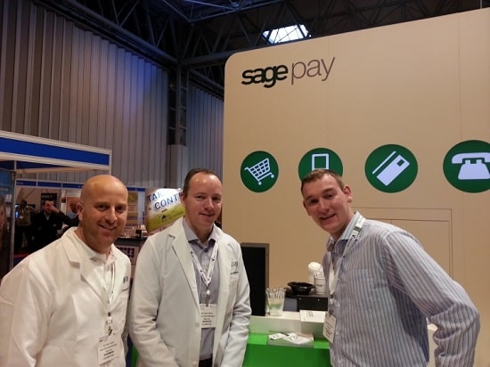 Partner David Coton with the SagePay team