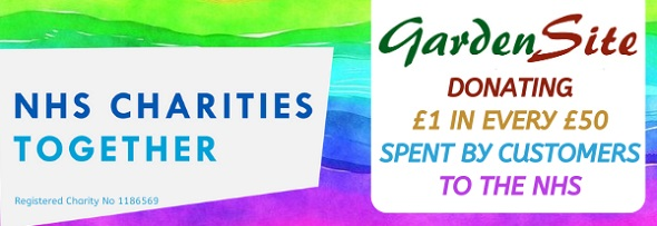 NHS charities together. Gardensite donating £1 for every £50 spent by customers to the NHS