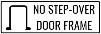 No Step-Over Door Frame