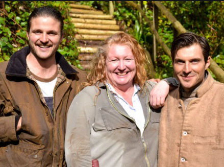 Garden Rescue's: Charlie Dimmock and theRich brothers