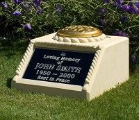 An inscribed Urn Pedestal