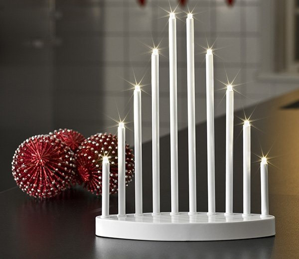 White Mini Metal Candlestick