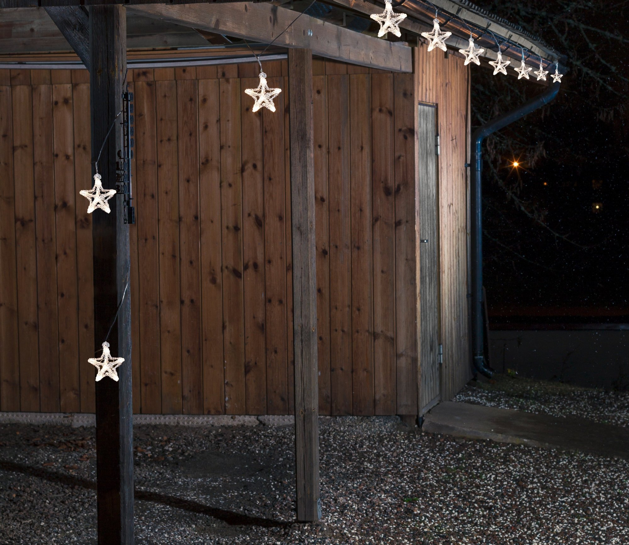Set of 10 LED Star Lights